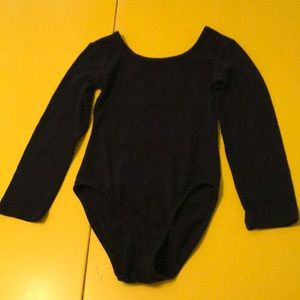 Girl's black Leotard XS 4-5 Danskin Now